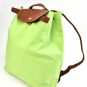 LONGCHAMP Spring Green, Nylon Backpack (n)